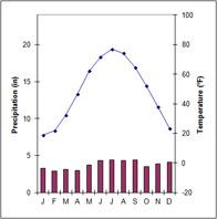 Climograph: Dfb climate